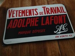 Plaque émaillée Adolphe Lafont - Reclameplaten