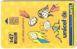 URUGUAY A-263 Chip Antel - Int. Organisation, Unicef - Used - Uruguay