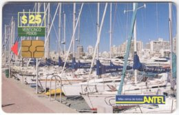 URUGUAY A-273 Chip Antel - View, Harbour - Used - Uruguay