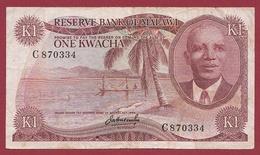 Malawi 1 Kwacha 1973 Dans L 'état  (ND----KM:10a)--- TRES RARE---TRES FORTE COTE EN UNC - Malawi