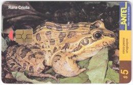 URUGUAY A-288 Chip Antel - Animal, Frog - Used - Uruguay