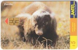 URUGUAY A-293 Chip Antel - Animal, Skunk - Used - Uruguay