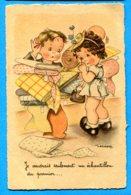 NY002, Magasin De Tissus, Illustrateur, Humour, Circulée 1948 Sous Enveloppe - Gougeon