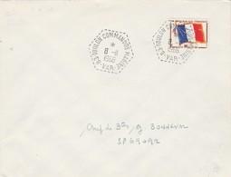 Timbre Franchise Militaire Yvert 13 Lettre Cachet 83 TOULON COMMANDOS MARINE Var 8/11/1966 à SP 69092 - Marcophilie (Lettres)