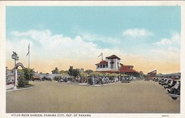 ATLAS BEER GARDEN CITY, REPUBLICA DE PANAMA. POSTAL CIRCA 1930's NOT CIRCULATED -LILHU - Panama