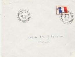 Timbre Franchise Militaire Yvert 13 Lettre Cachet BREST LANINON MARINE Nord Finistère 26/10/1966 à SP 69092 - Marcophilie (Lettres)