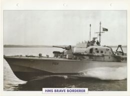 Picture Suitable For Framing - HMS  - Brave Borderer - Fast Attack Craft - See Description Very Good - Postcards