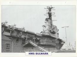 Picture Suitable For Framing - HMS  - Bulwark - Intermediate Fleet Carrier - See Description Very Good - Postcards