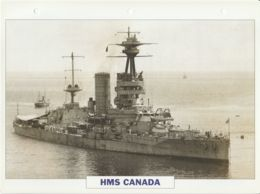 Picture Suitable For Framing - HMS  - Canada - Capital Battleship - See Description Very Good - Postcards