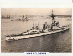 Picture Suitable For Framing - HMS  - Colossus - Battleship - See Description Very Good - Postcards