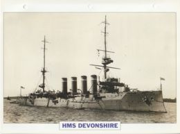 Picture Suitable For Framing - HMS  - Devonshire  - 1st Class Armoured Cruiser - See Description Very Good - Postcards