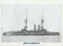 Picture Suitable For Framing - HMS  - Exmouth - Capital Battleship - See Description Very Good - Postcards