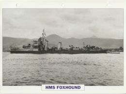 Picture Suitable For Framing - HMS  - Foxhound - Fleet Destroyer - See Description Very Good - Postcards