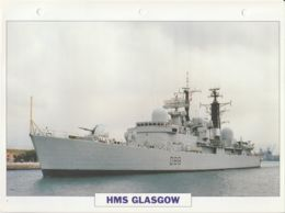 Picture Suitable For Framing - HMS  - Glasgow - Sheffield Type Destroyer See Description Very Good - Postcards