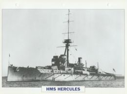 Picture Suitable For Framing - HMS  - Hercules - Capital Battleship - See Description Very Good - Postcards