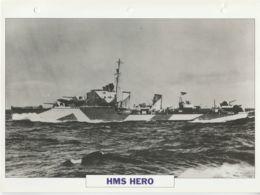 Picture Suitable For Framing - HMS  - Hero - Fleet Destroyer - See Description Very Good - Postcards