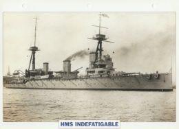 Picture Suitable For Framing - HMS  - Indefatigable - Capital Battleship - See Description Very Good - Postcards