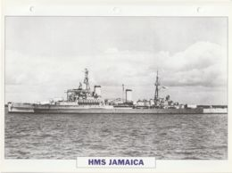 Picture Suitable For Framing - HMS  - Jamaica - Fiji Class Large Light Cruiser, See Description - Very Good - Postcards