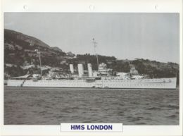 Picture Suitable For Framing - HMS  - London - Heavy Cruiser  - See Description Very Good - Postcards