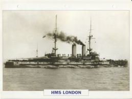 Picture Suitable For Framing - HMS  - London - London Class Battleship - See Description Very Good - Postcards