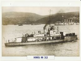 Picture Suitable For Framing - HMS  - M 32  - M29 - Class Monitor See Description Very Good - Postcards