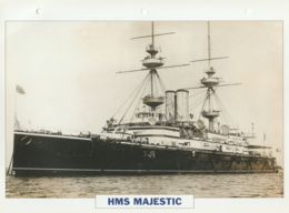 Picture Suitable For Framing - HMS  - Majestic - Capital Battleship - See Description Very Good - Postcards