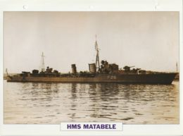 Picture Suitable For Framing - HMS  - Matabele - Tribal Class Destroyer - See Description Very Good - Postcards