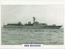 Picture Suitable For Framing - HMS  - Matapan - Battle Class Destroyer See Description Very Good - Postcards