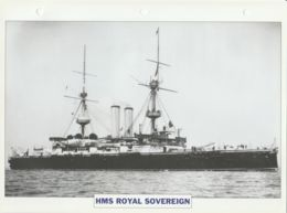 Picture Suitable For Framing - HMS  - Royal Sovereign - Capital Battleship - See Description Very Good - Postcards