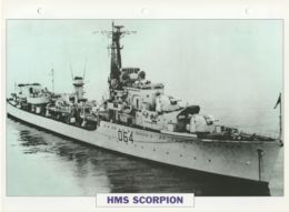 Picture Suitable For Framing - HMS  - Scorpion - Weapon Class Destroyer - See Description Very Good - Postcards