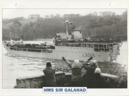 Picture Suitable For Framing - HMS  - Sir Galahad - Lost In 1982 - See Description Vg - Postcards