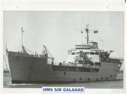 Picture Suitable For Framing - HMS  - Sir Galahad - One Of Six Landing Ships - See Description Very Good - Postcards