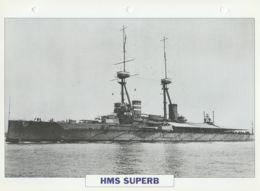 Picture Suitable For Framing - HMS  - Superb - Capital Battleship - See Description Very Good - Postcards