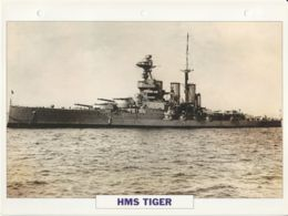 Picture Suitable For Framing - HMS  - Tiger - Battlecruiser - See Description Very Good - Postcards