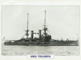 Picture Suitable For Framing - HMS  - Triumph - Capital Battleship - See Description Very Good - Postcards