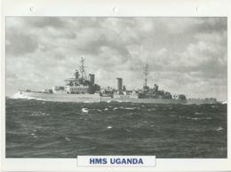 Picture Suitable For Framing - HMS  - Uganda - Fiji Class Large Light Cruiser, See Description - Very Good - Postcards