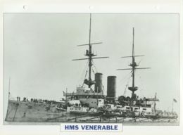 Picture Suitable For Framing - HMS  - Venerable - Capital Battleship - See Description Very Good - Postcards