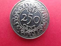 Suriname  250 Cents  1987  Km 24 - Surinam 1975 - ...