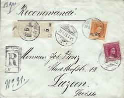 Luxembourg  -  Post-Entier  -  21.6.1923 - Lettre Recommandé - Scellé - Versiegelt - 2 Scans - Entiers Postaux