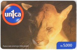 VENEZUELA B-557 Prepaid Un1ca - Animal, Cat, Puma - Used - Venezuela