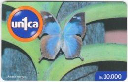 VENEZUELA B-566 Prepaid Un1ca - Animal, Butterfly - Used - Venezuela