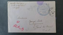 Lettre Du Camp D'Agde Mars 1940 Cachet Bleu Poste Aux Armées Tchécoslovaques SP 2197 Voir Scans - Marcophilie (Lettres)