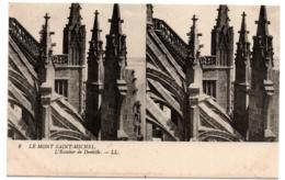 CPA Stéréoscopique - MONT SAINT MICHEL (Manche) - 9. L'Escalier De Dentelle - LL - Cartoline Stereoscopiche