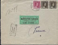 Luxembourg  -  Poste-Entier  -  17.6.1920 - Lettre Recommandé - Entiers Postaux
