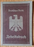 Deutsches Reich Arbeitsbuch, Deutsche Reichsbahn, Bremen 1936 - Dokumente