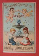 Chromo. Bourgerie. Publicité Spécifique Pour Le BALLON  CAPTIF  De  MEYER. Enfants. Anges. Destruction Des Mouches. - Chromos