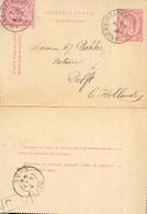 Año 1889 Entero Postal + Sello Completo Circulado A Delft Matasellos Anvers, Delft, C9 - Postwaardestukken