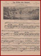 La Fille Du Soleil. Poème De M Magre. Musique Gailhard. Air Chanté Par Mme Laute Brun. Représentée à Béziers.1909. - Vieux Papiers