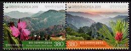 South Korea - 2019 - National Parks - Severni Velebit And Seoraksan - Joint Issue With Croatia - Mint Stamp Set - Korea (Süd-)