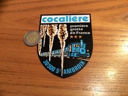 AUTOCOLLANT, Sticker «cocalière - Première Grotte De France - ST AMBROIX (30) » (train) - Stickers